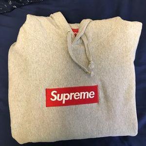 Gray supreme box logo SALE